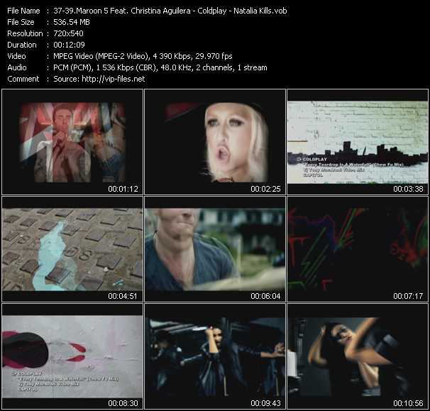 Maroon 5 Feat. Christina Aguilera - Coldplay - Natalia Kills video vob