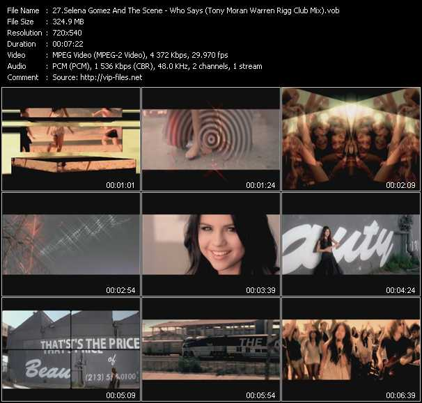 Selena Gomez And The Scene video vob