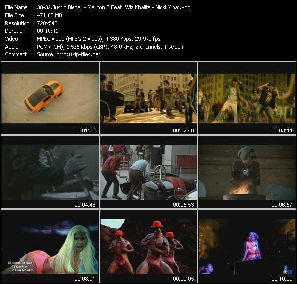 Justin Bieber - Maroon 5 Feat. Wiz Khalifa - Nicki Minaj video vob