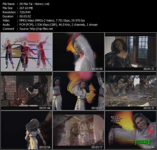 Screenshot of Music Video Mai Tai - History