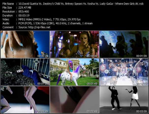 David Guetta Vs. Destiny's Child Vs. Britney Spears Vs. Kesha Vs. Lady GaGa video vob