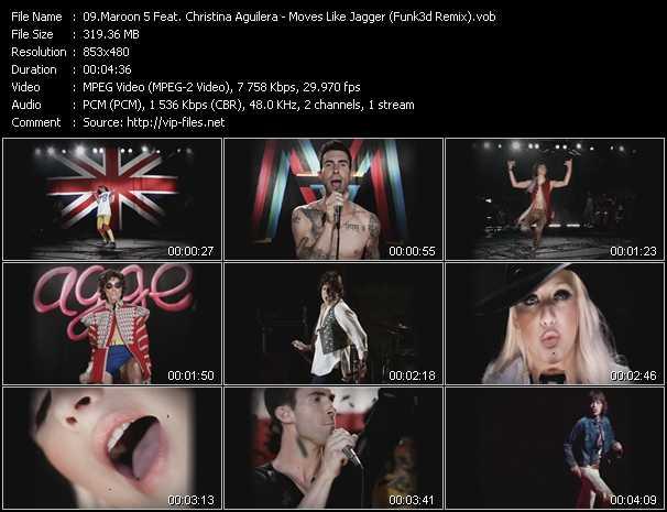Maroon 5 Feat. Christina Aguilera video vob