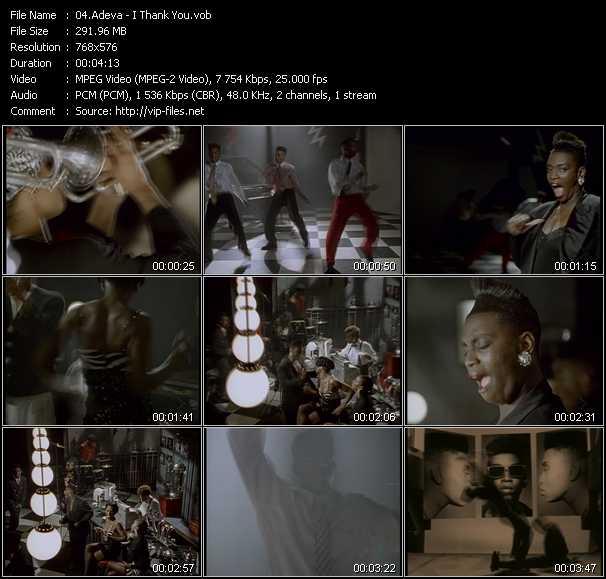 Screenshot of Music Video Adeva - I Thank You