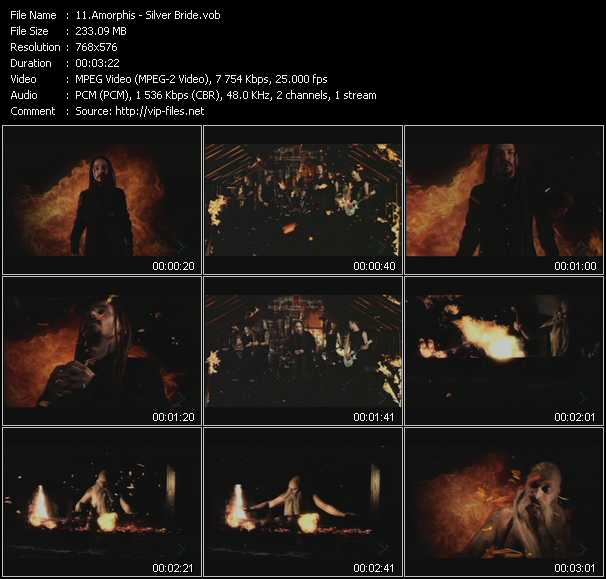 Amorphis clips musicaux vob