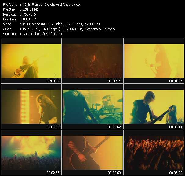 In Flames clips musicaux vob