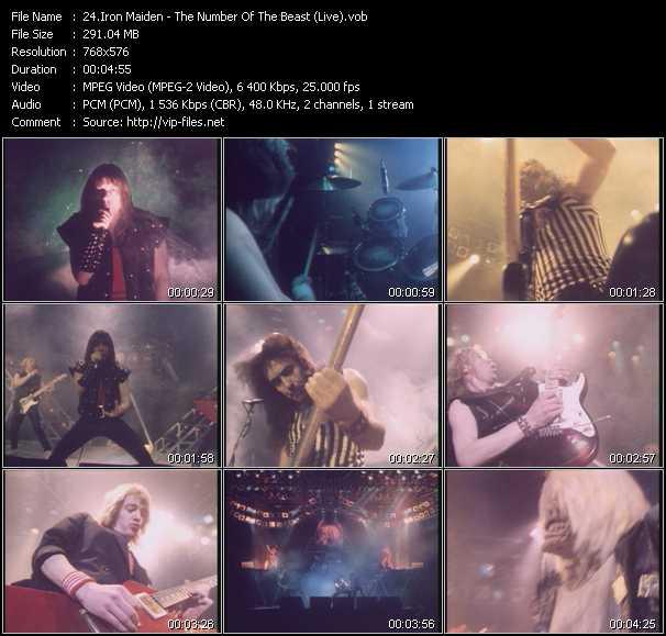 Iron Maiden clips musicaux vob