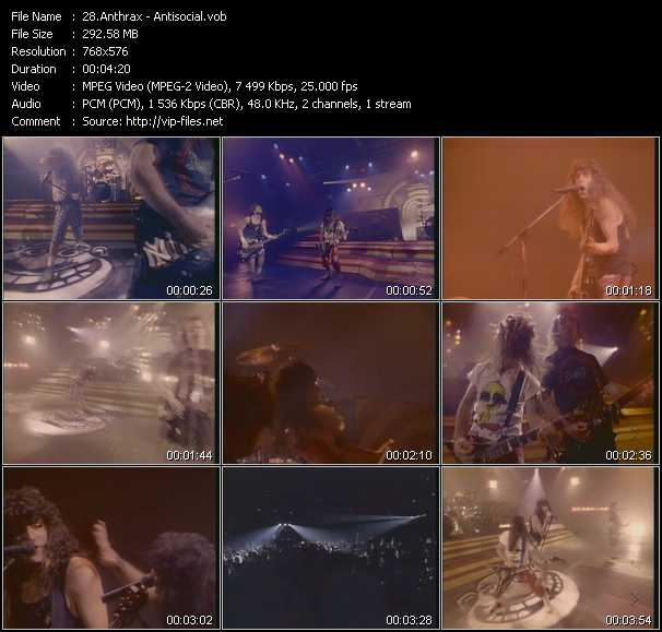 Anthrax video vob