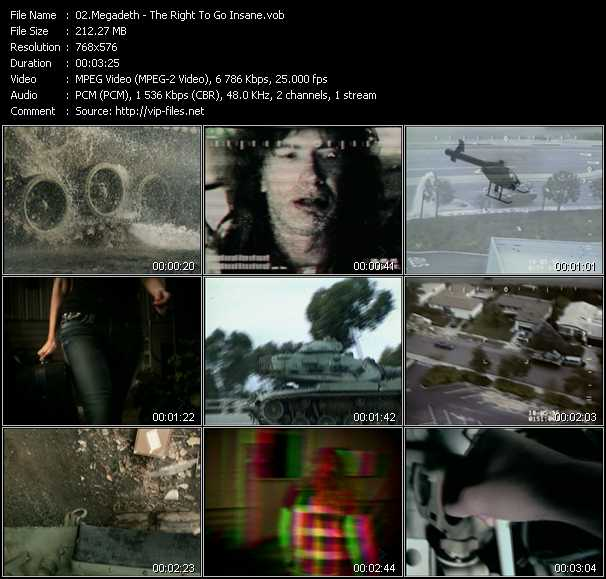 Megadeth video vob
