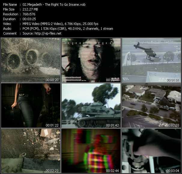 Megadeth видеоклип vob