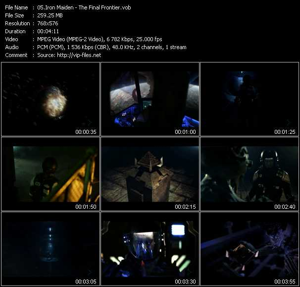 Iron Maiden video vob