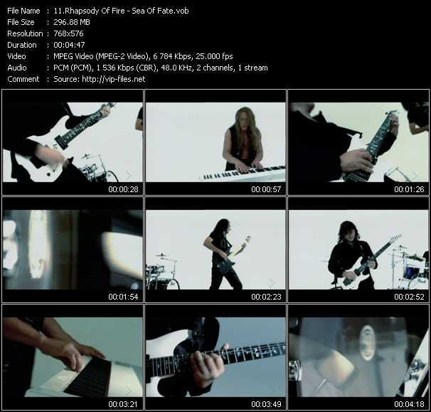 Rhapsody Of Fire video vob