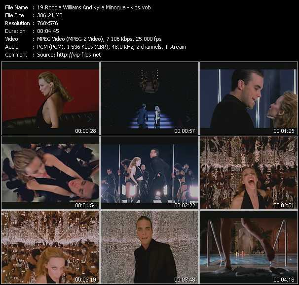 Robbie Williams And Kylie Minogue video vob