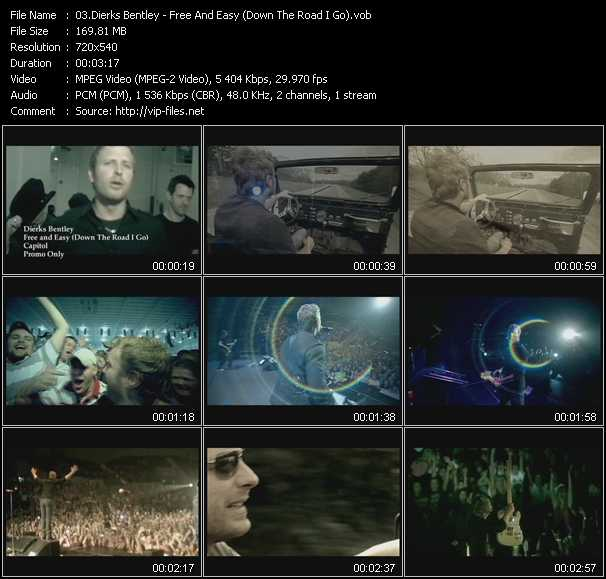 Screenshot of Music Video Dierks Bentley - Free And Easy (Down The Road I Go)