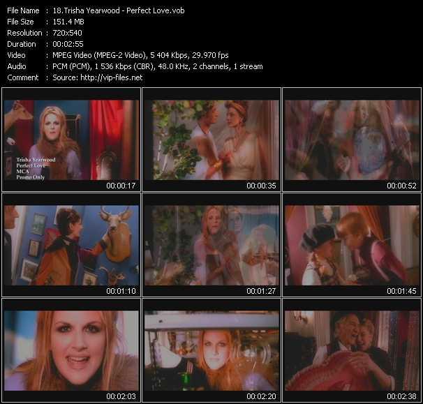 Screenshot of Music Video Trisha Yearwood - Perfect Love