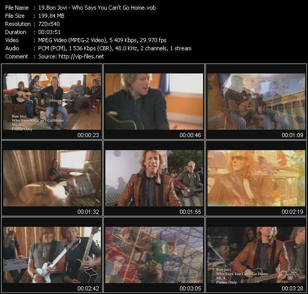 Screenshot of Music Video Bon Jovi - Who Says You Can't Go Home