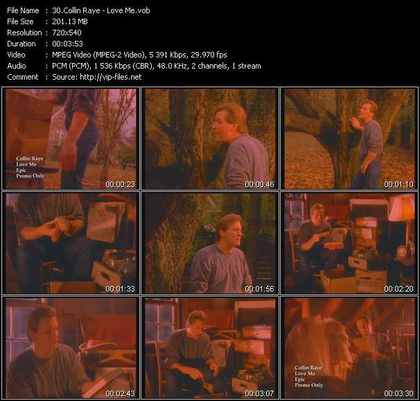 Screenshot of Music Video Collin Raye - Love Me