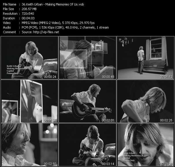 Screenshot of Music Video Keith Urban - Making Memories Of Us