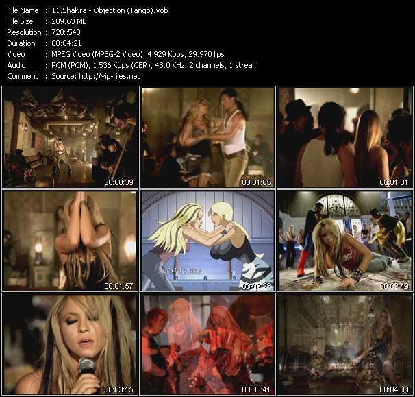 Shakira clips musicaux vob