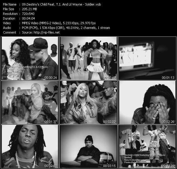 Destiny's Child Feat. T.I. And Lil' Wayne video vob