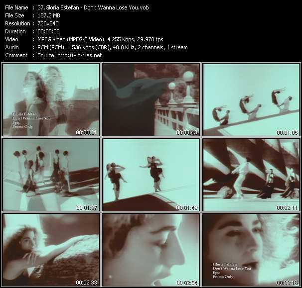 Screenshot of Music Video Gloria Estefan - Don't Wanna Lose You