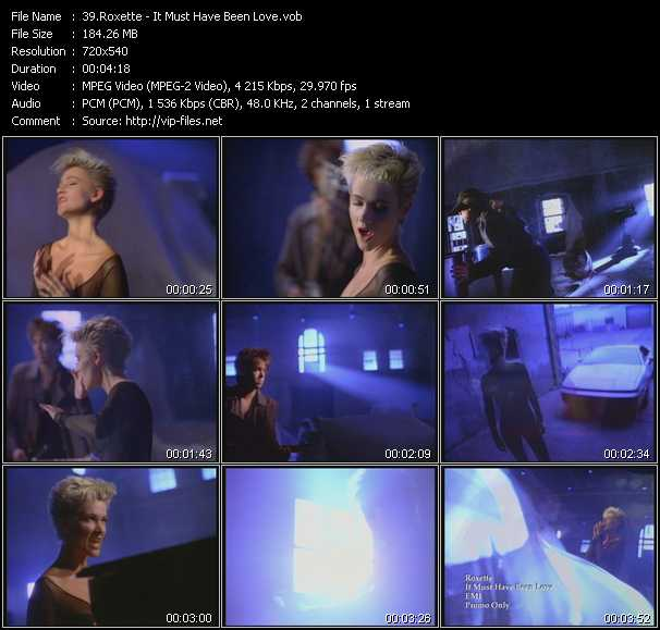 Screenshot of Music Video Roxette - It Must Have Been Love