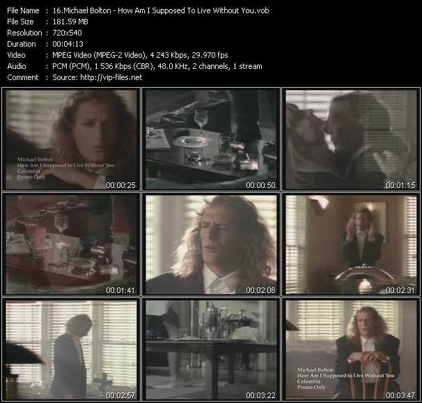 Michael Bolton video vob