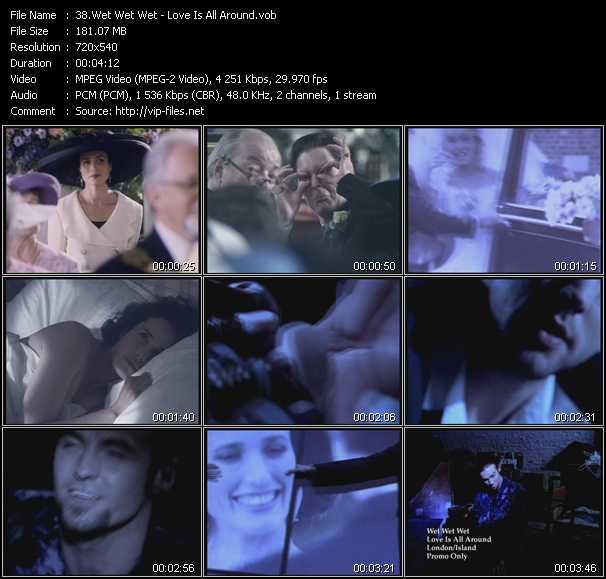 Screenshot of Music Video Wet Wet Wet - Love Is All Around
