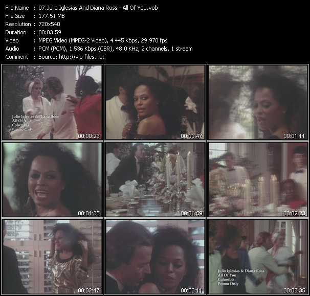 Julio Iglesias And Diana Ross video vob