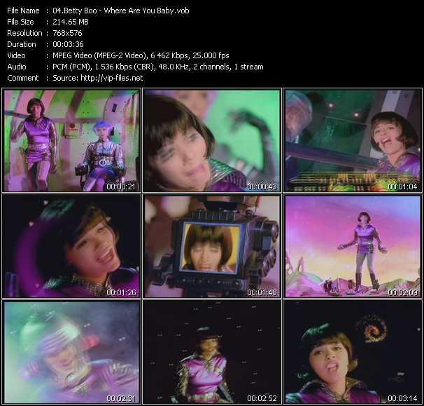 Betty Boo video vob