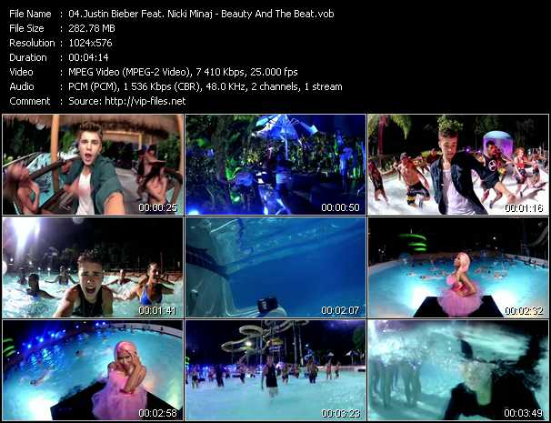 Justin Bieber Feat. Nicki Minaj clips musicaux vob