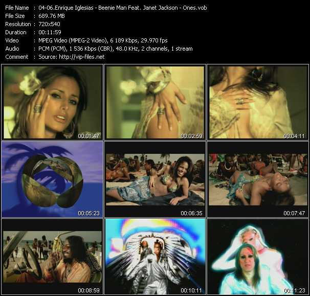 Enrique Iglesias - Beenie Man Feat. Janet Jackson - Ones video vob