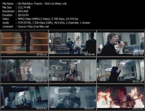 Matchbox Twenty video vob