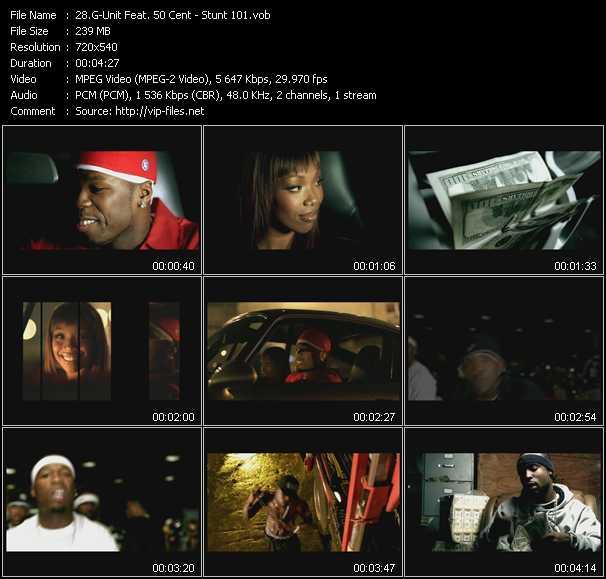 G-Unit Feat. 50 Cent clips musicaux vob