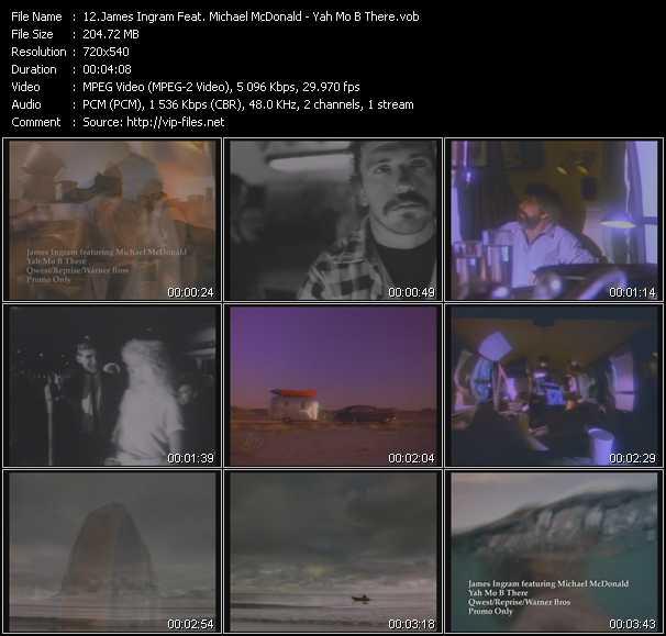 Screenshot of Music Video James Ingram Feat. Michael McDonald - Yah Mo B There