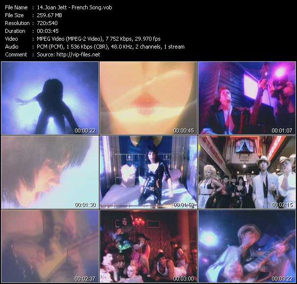 Screenshot of Music Video Joan Jett And The Blackhearts - French Song
