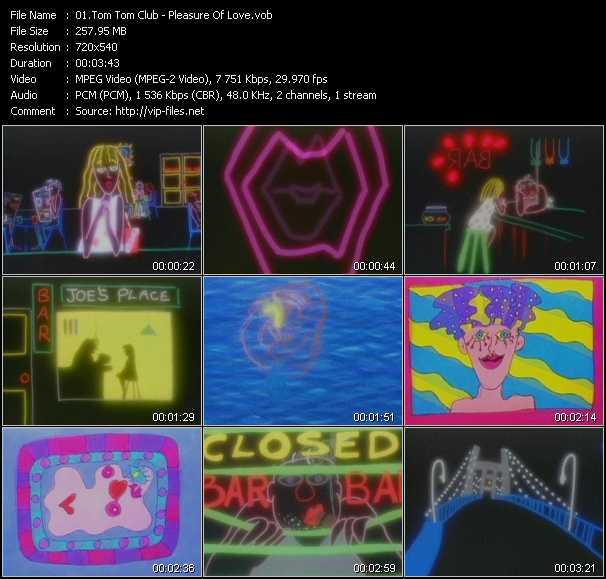 Screenshot of Music Video Tom Tom Club - Pleasure Of Love