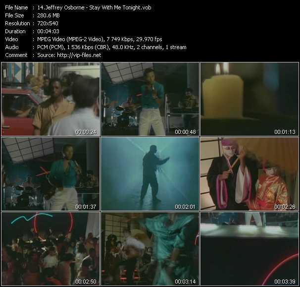 Screenshot of Music Video Jeffrey Osborne - Stay With Me Tonight