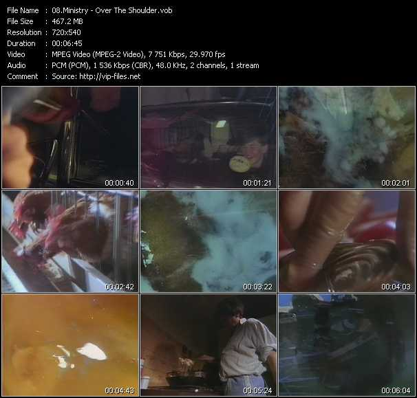 Screenshot of Music Video Ministry - Over The Shoulder