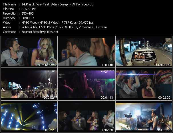 Plastik Funk Feat. Adam Joseph video vob
